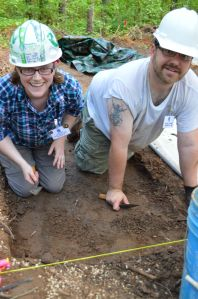 Jessica Howe & Matt Comer excavating at the Training Program.